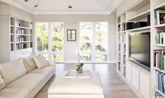 House Huntress : Exquisite Escape in Windsor, Florida — Leigh Clair Tiny Living, Living Area, Living Rooms, Windsor Florida, Classic Living Room, Beach Design, Floor To Ceiling Windows, Savannah Chat, Savannah House