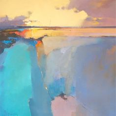Peter Wileman, contemporary painter, highly renowned for his abstract landscapes Abstract Landscape Painting, Landscape Art, Landscape Paintings, Abstract Art, Abstract Paintings, Paintings I Love, Contemporary Landscape, Painting Inspiration, Peter Wileman