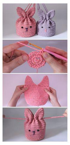 Crochet Bunny, Cute Crochet, Crochet Crafts, Crochet Toys, Crochet Baby Stuff, Yarn Crafts, Crochet Clothes, Easy Knitting Projects, Crochet Projects