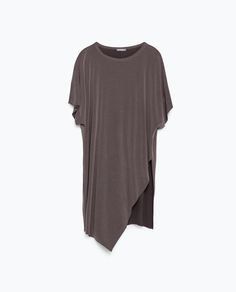 ASYMMETRIC PRINTED T-SHIRT-View all-Woman-NEW IN | ZARA United States