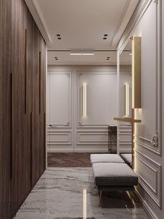 Bedroom Design Ideas – Create Your Own Private Sanctuary Apartment Interior, Apartment Design, Home Interior Design, Interior Architecture, Modern Classic Interior, Neoclassical Interior, Estilo Interior, Hallway Designs, Luxury Home Decor