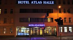 Hotel Atlas Halle Halle an der Saale This 3-star hotel is just a 5-minute walk from Halle Central Station. It offers free Wi-Fi and a flat-screen TV in all rooms, as well as rich breakfast buffets.