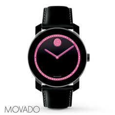 Movado Breast Cancer Awareness Edition Watch BCRF 3600179 **cute black&pink watch**