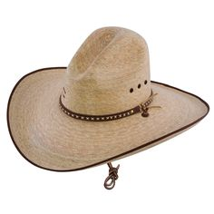Charlie 1 Horse Bandito B Palm Straw Western Hat Item - Natural   660493afae30