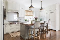 love everything about this! Island is done in Benjamin Moore Chelsea Gray