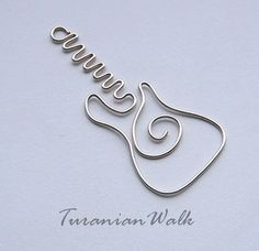 Fender guitar - wire bookmark via Etsy