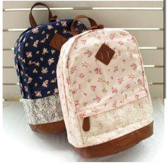 Floral backpacks @Allison j.d.m Rice Tura Grant =)