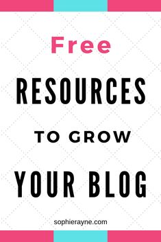 Whether you're just starting a blog or looking for different ways to grow your blog, here are some free resources that you can use to help you build your blog and your skills. These free blogging tools can help you grow your blogging audience and better your blog. #blogging #freebloggingtools #freebloggingresources Create Your Own Blog, Free Blog, Self Development, Money Saving Tips, How To Start A Blog, Self Improvement, Blogging, About Me Blog, Tools