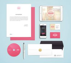Branding / Identity Mockup Vol 4 Mockups for your own designs for cards, posters, flyers, etc
