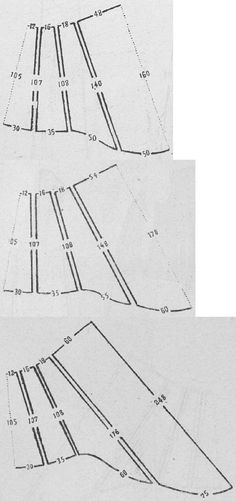 Le Moniteur de la Mode 1884.: Various lengths of trained skirts (from demi to court)