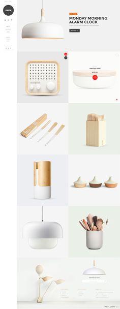 PIECE - Minimalist Interior Website