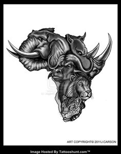 African Tattoos Designs In map tattoo design