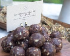 cacao and orange bliss balls