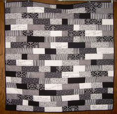 black, white, and gray quilt (hmm... makes me reconsider quilt plans, or be more fadey)