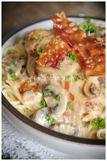 Country Club Chicken, made in the slowcooker! I love crock pot recipes Crock Pot Recipes, Crock Pot Cooking, Turkey Recipes, Cooker Recipes, Great Recipes, Chicken Recipes, Dinner Recipes, Favorite Recipes, Chicken Bacon
