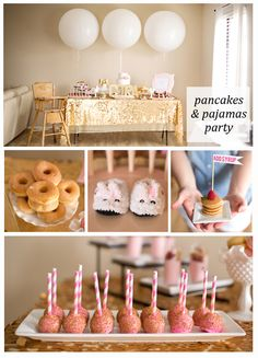 Pancakes and Pajamas Party - Caroline's first birthday?!