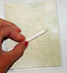 This is a good way to use your embossing folders for a different look - great idea!!  Now where did I put those crayons.