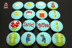 Mario Bross Themed Cupcakes - Decorated and Custom Cupcakes