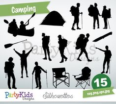 Camping Silhouette, instant download, PNG, JPG, SVG, eps filesPs-159