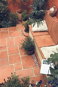 Terracotta tile paving: garden by barton fields landscaping supplies - Terracotta - Garden Floor