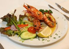 #CheshireLife Women in Business Luncheon, #DonGiovanni's, #Manchester. Gamberoni Grigliati- grilled giant king #prawns with garlic, chilli and parsley in butter sauce. #Starter