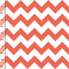 Nice site for very nice fabric. Emberglow Coral Chevron on White Cotton Jersey Blend Knit Fabric