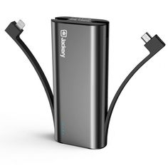Portable Charger Jackery Bolt 6000 mAh Power Outdoors - Power bank with built in Lightning Cable [Apple MFi certified] iPhone Battery Charger External Battery, TWICE as FAST as Original iPhone Charger — Gift Advisor Portable Phone Charger, Iphone Charger, Portable Battery, Semarang, Must Have Travel Accessories, External Battery Charger, Sydney, Black, Lightning