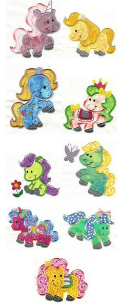 Embroidery designs | Free machine embroidery designs | Pretty Ponies Applique