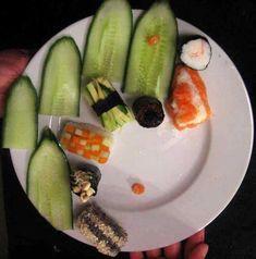 Yemek Süsleme Sanatı | Leylara - Her şey burada! Sushi, Ethnic Recipes, Food, Meals