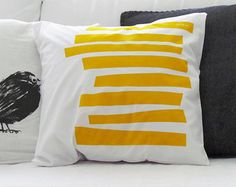 Shibori indigo pillowcase cushion cover pillow by LittleMBlue
