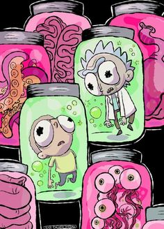 Cartoon: Rick and Morty Trippy Wallpaper, Cartoon Wallpaper, Vogel Illustration, Rick And Morty Drawing, Trippy Rick And Morty, Ricky Y Morty, Rick And Morty Poster, Trippy Drawings, Trippy Painting