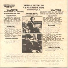 An FBI wanted poster showing American bank robbers Clyde Barrow and Bonnie Parker is seen on May Photo: Interim Archives, Getty Images / Archive Photos Bonnie And Clyde Photos, Bonnie Clyde, Us Department Of Justice, Bonnie Parker, Bank Robber, Serge Gainsbourg, Brigitte Bardot, True Crime, Historical Photos