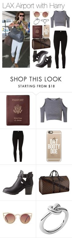 """""""LAX Airport with Harry"""" by lucybitch ❤ liked on Polyvore featuring Royce Leather, Glamorous, dVb Victoria Beckham, Casetify, Charlotte Russe, Louis Vuitton, Quay, Michael Kors and ChloBo"""