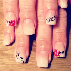 Valentines nails.... I think it's cute