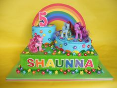 ... My Little Pony Rainbow Birthday Cake | by CakesUniqueByAmy.com