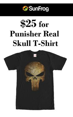 Get punisher real skull t-shirt just at $25 from Sunfrog Shirts. Snap up now and avail this offer. For more Sunfrog Shirts Coupon Codes visit:  http://www.couponcutcode.com/coupons/25-punisher-real-skull-t-shirt/