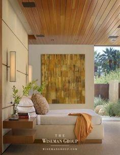 Cortenstahl-Optik und Holz im modernen Badezimmer | Traumhäuser ...