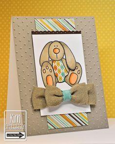 Joyful Creations with Kim: Bunny with an Argyle Belly!! Burlap ribbon
