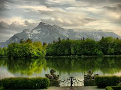 Schloss Leopoldskron, Salzburg, Austria. Used as the back of the von Trapp house