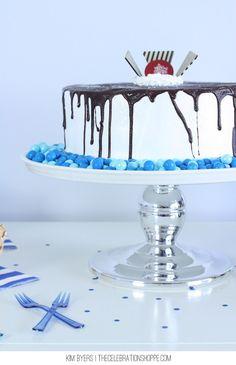 Fudge Ganache Ice Cream Cake - amazing!
