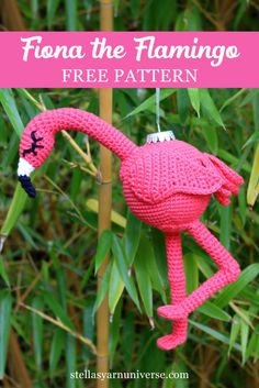 Crochet Amigurumi Patterns Flamingo free crochet pattern - Welcome Fiona, the Crochet Flamingo! Try this free crochet pattern and add a tropical touch to your Christmas decoration this year! Crochet Flamingo, Flamingo Craft, Flamingo Ornament, Crochet Birds, Cute Crochet, Flamingo Gifts, Crochet Angels, Crochet Ornaments, Christmas Crochet Patterns