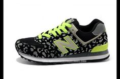 New Balance 574 Leopard Print edition Green Gray Black women shoes