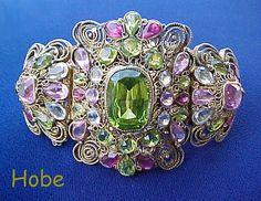 HOBE Filigree Rhinestones Bracelet Sold for $ 895 |Pinned from PinTo for iPad|