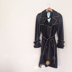 CCO❗️Marciano Genuine Leather Trench Coat This is absolutely stunning and perfect for the cold! Super soft genuine leather trench with gold piping trim accent. Brand new with $498 tags. No trades!! 1161585ctf Marciano Jackets & Coats Trench Coats