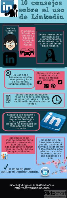 10 consejos sobre el uso de Linkedin #infografia