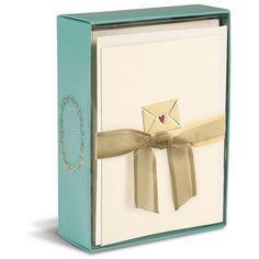 Boite de cartes Lettre à cour (10) #renaudbray #papeterie #coeur #heart