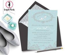 CINDERELLA Princess Bridal Shower Invitation   Princess Bridal Shower Invite   Disney Wedding   Fairy Tale Wedding   Printable