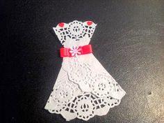 Vestido de Novia para aplicar en tarjetas, regalos, souvenirs :: Paper Wedding Dress for different applications such as invites, thank you notes, presents, favors  Wow! Eventos Boutique