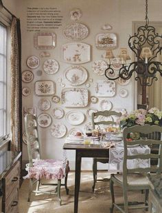 Gorgeous display of brown transferware