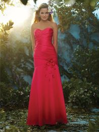 A Lovely Bridesmaid Standing In A Magenta, Floor Length, Fit & Flare Style Disney Fairy Tale Bridesmaid Dress